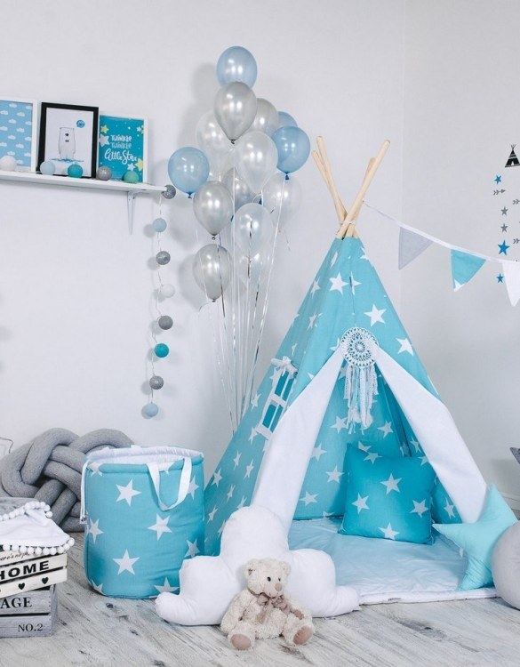 Give your little one the space they need to let their imagination flow with the Child's Teepee Set Angel's Star. This handcrafted children's teepee tent is a versatile play space which is as beautiful as it is fun.