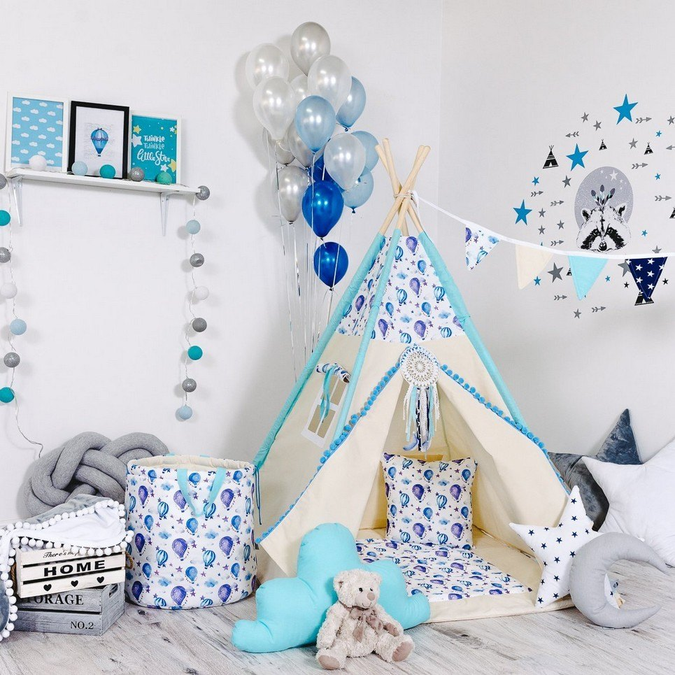 Child's Teepee Set Happy Balloons