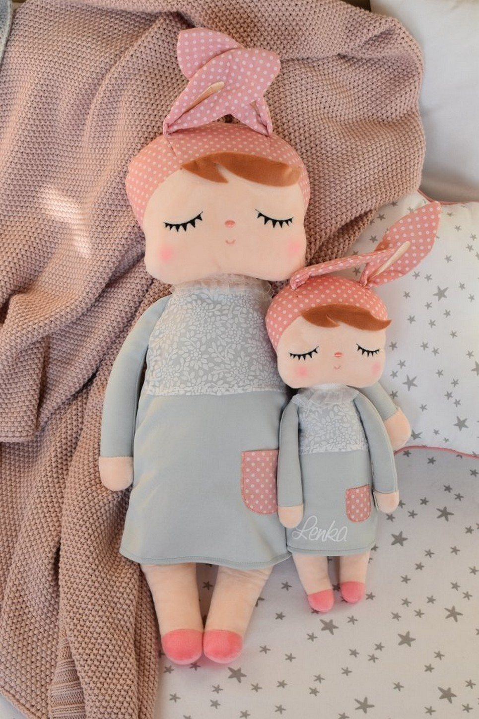 Personalised Metoo Large Doll Grey
