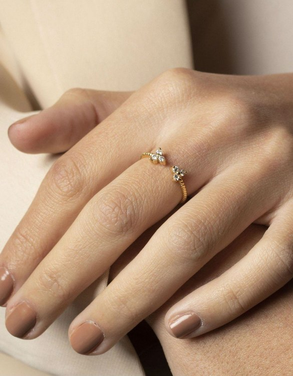 A truly luxurious gift for a friend, or a special treat for yourself, the Orly Gold Ring is a cool way to show a little love. It would be a perfect anniversary, Christmas or birthday gift.