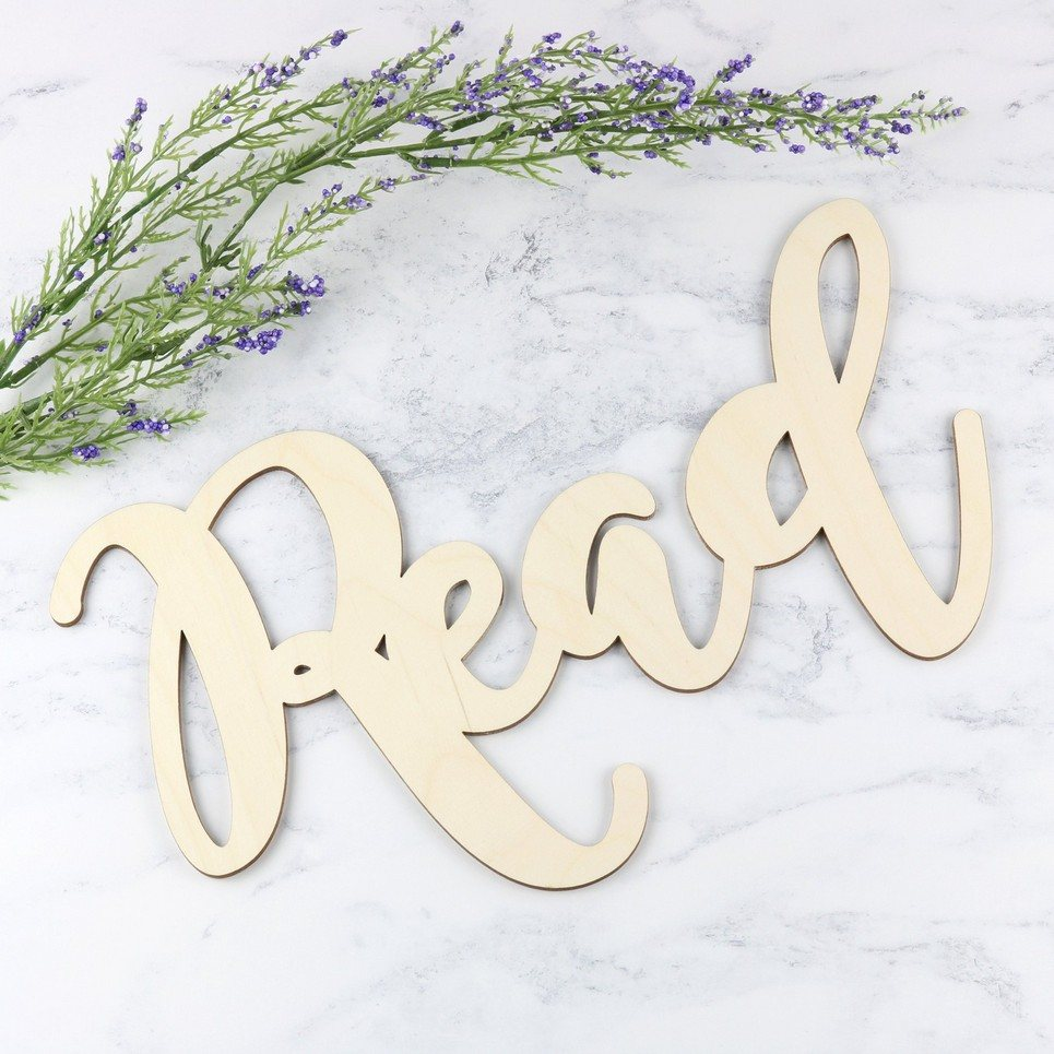 Wooden Word Sign – Read