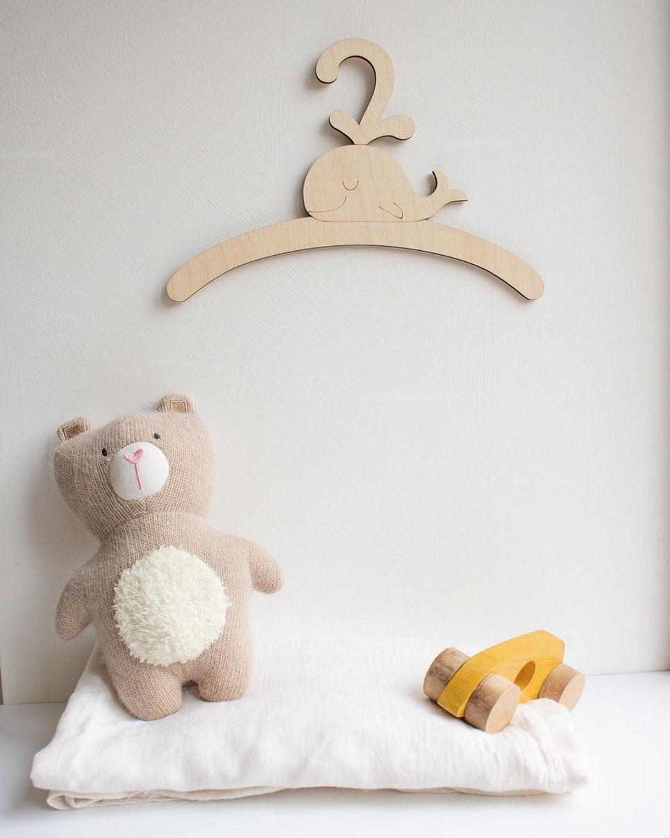 Little Whale Child's Coat Hanger