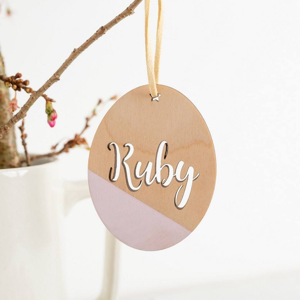 Customised Easter Egg Hanging Decoration