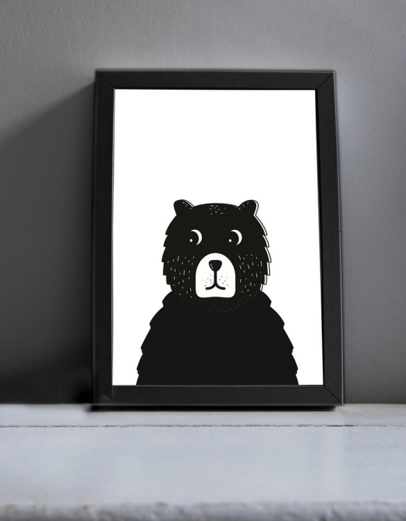 Brighten up your home with the Big Bear Nursery Print. Amaze a little 'super hero' with this fabulous modern art print, lovingly made just for him.