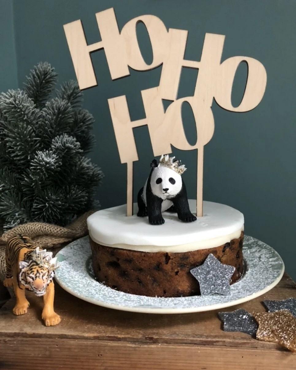 HoHoHo Christmas Cake Topper