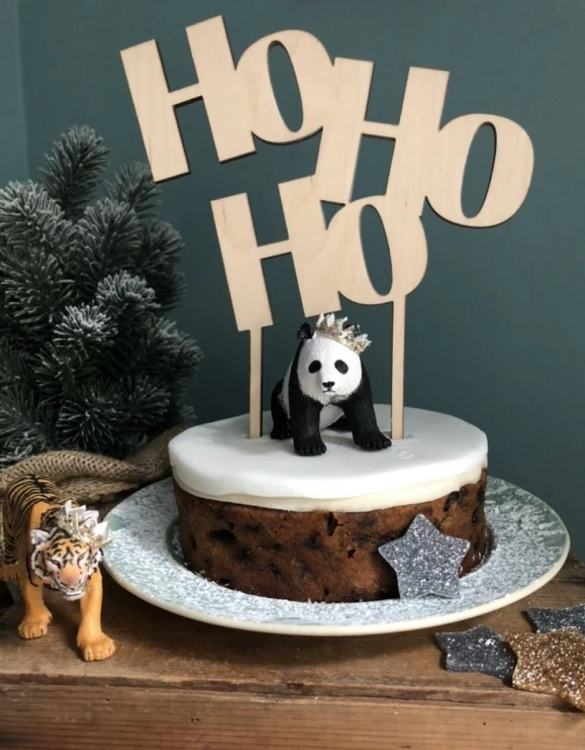 A classy accessory for wedding cakes and engagement cakes, the HoHoHo Christmas Cake Topper is a colourful, fun and super sparkly cake topper to brighten any cake! Perfect for kids and adults of all ages, pride parties and... well...who needs an excuse?