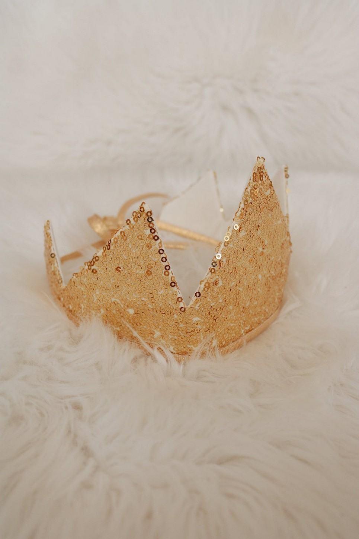 Gold Sequins Children's Crown