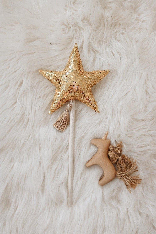 Gold Sequins Magic Wand
