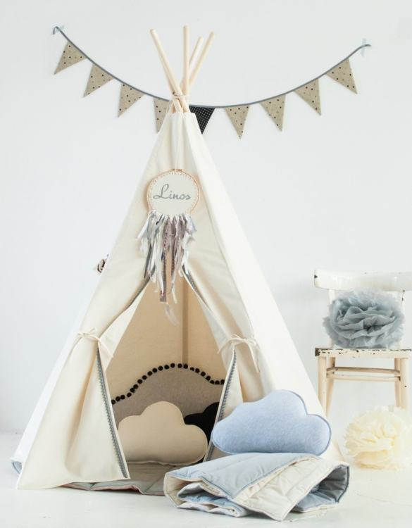 A beautifully handcrafted playtent for little adventurers, the Gray Pompons Children's Play Teepee is a versatile play space which is as beautiful as it is fun. Younger children will enjoy playing camp, hosting a tea party and allowing their imagination to run free (a shop one day a space rocket the next!).
