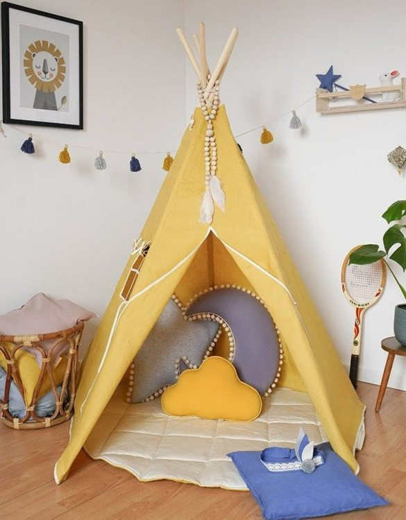 A beautifully handcrafted playtent for little adventurers, the Honey Children's Play Teepee is a versatile play space which is as beautiful as it is fun. Younger children will enjoy playing camp, hosting a tea party and allowing their imagination to run free (a shop one day a space rocket the next!).