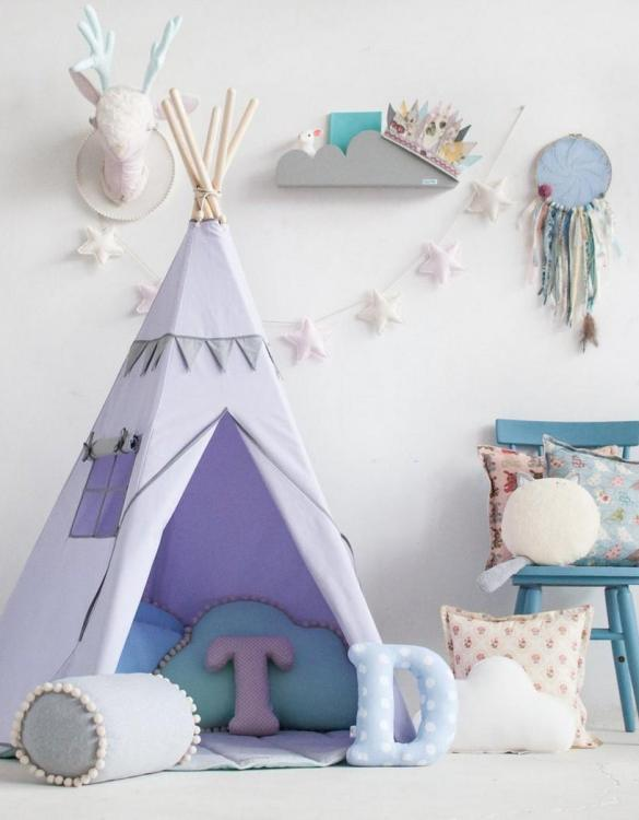 A beautifully handcrafted playtent for little adventurers, the Lavender Field Children's Play Teepee is a versatile play space which is as beautiful as it is fun. Younger children will enjoy playing camp, hosting a tea party and allowing their imagination to run free (a shop one day a space rocket the next!).