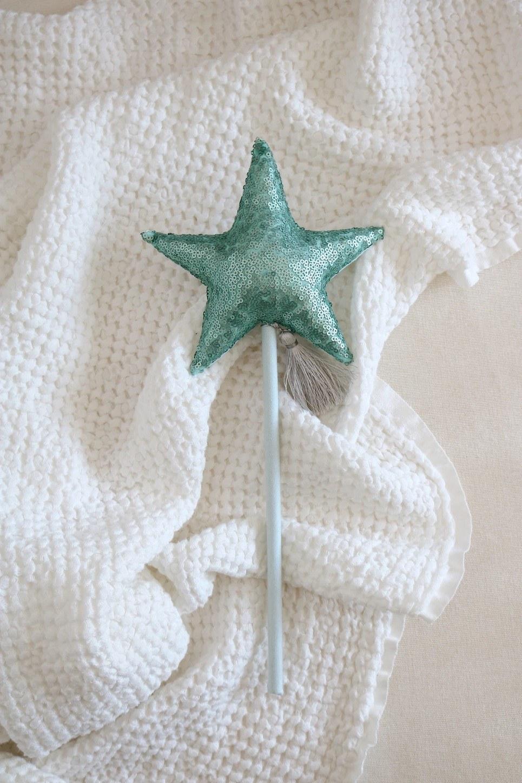 Mint Sequins Magic Wand