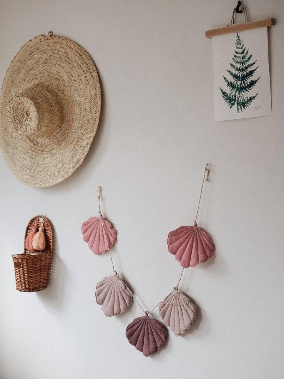Pink Shell Nursery Garland