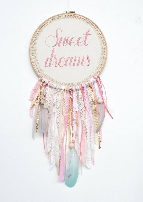 Pink Sweet Dreams Handmade Dream Catcher