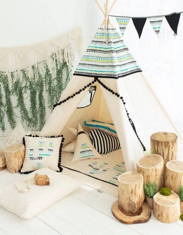 Watch your children create their own adventures with Aztec 2 Children's Play Teepee! Every little adventure needs their own space to let their imaginations run wild and this kids play tent is just perfect.