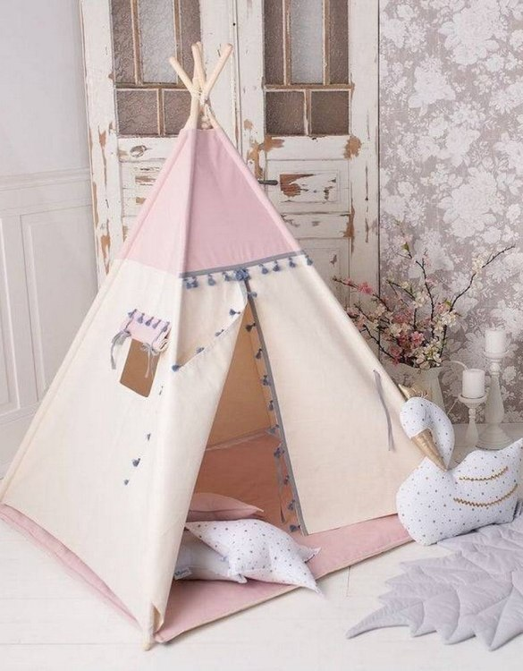 Watch your children create their own adventures with Boho Pink Children's Play Teepee! Every little adventure needs their own space to let their imaginations run wild and this kids play tent is just perfect.