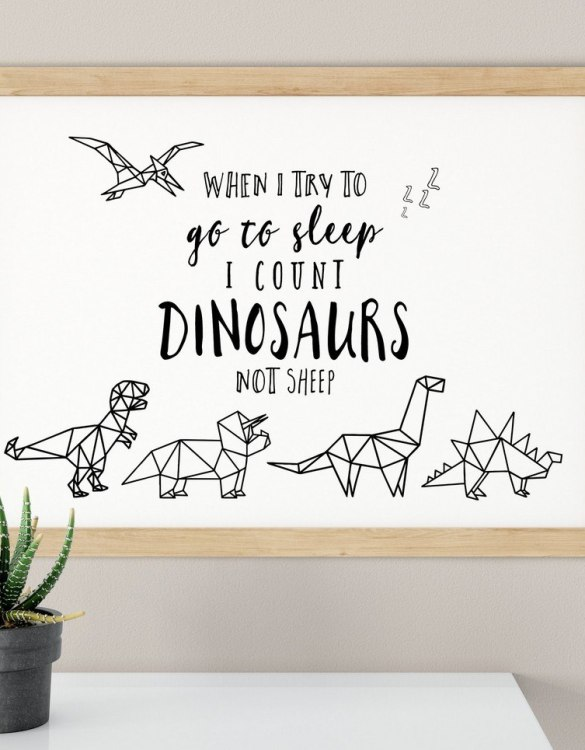 A heartfelt way of capturing a childhood memory forever, the Counting Dinosaurs Nursery Print is perfect to decorate your children's bedroom kids' nursery room decor art or stylish home office desk poster or living room wall.