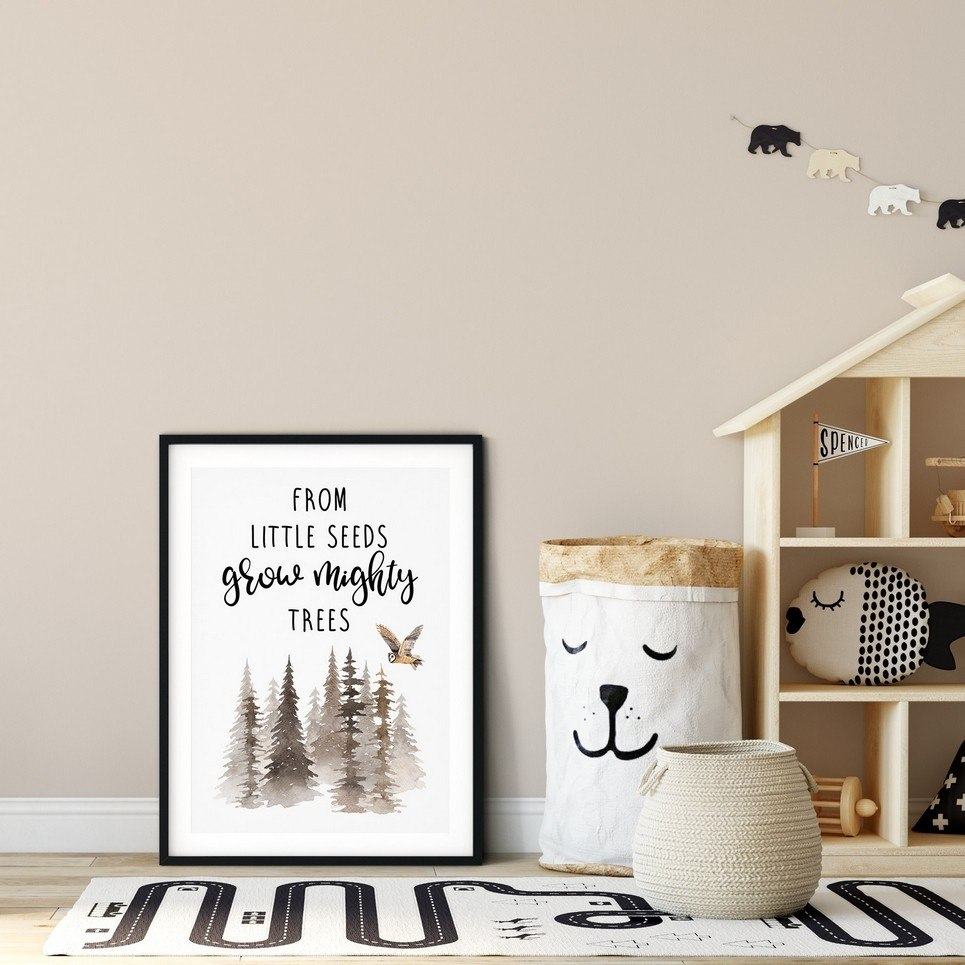 From Little Seeds Grow Mighty Trees Nursery Print
