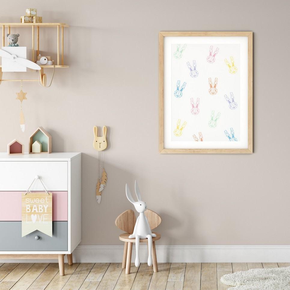 Geometric Bunnies Print – Pastels