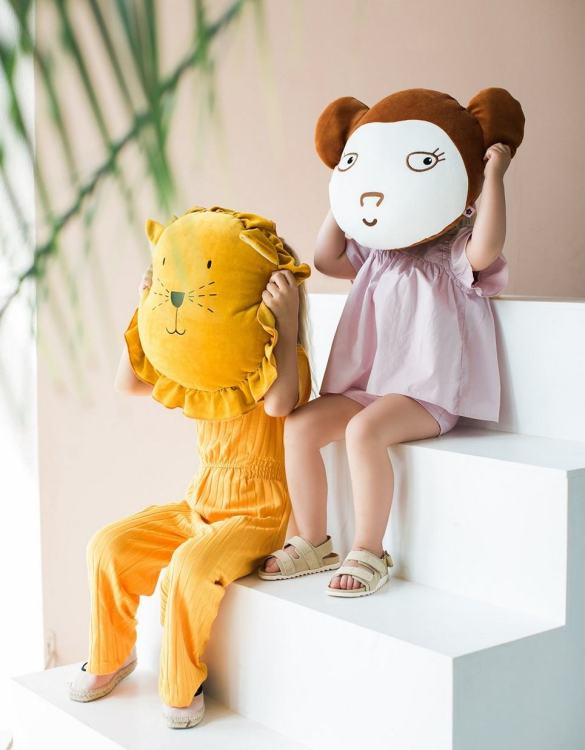 Ready for bedtime cuddles, the Lion Children's Cushion makes a thoughtful gift, sending a great big hug when your arms won't reach.