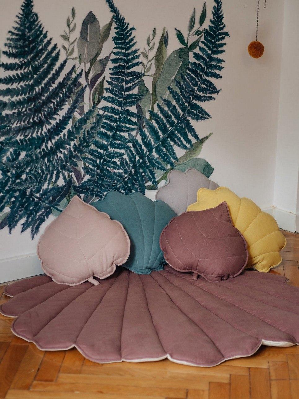 Marsala Linen Shell Mat