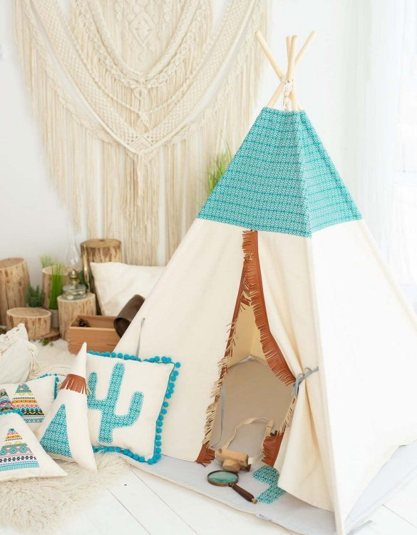 Watch your children create their own adventures with Mexican Children's Play Teepee! Every little adventure needs their own space to let their imaginations run wild and this kids play tent is just perfect.