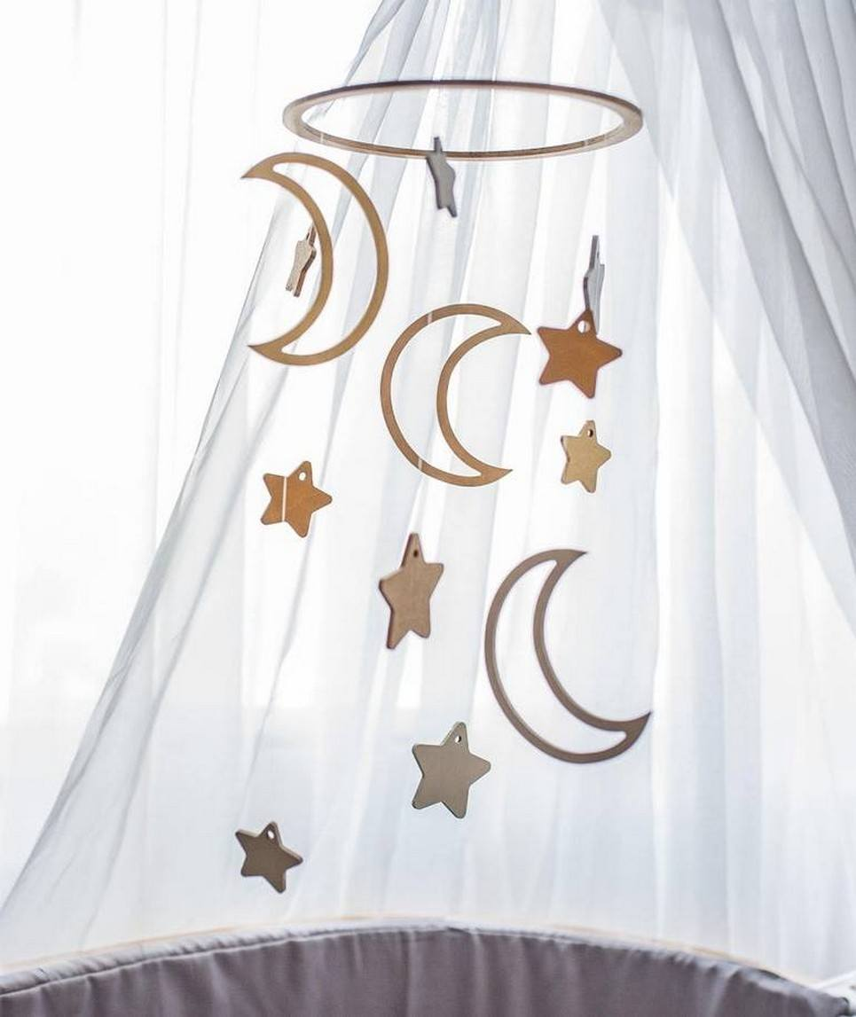 Moon Wooden Baby Mobile