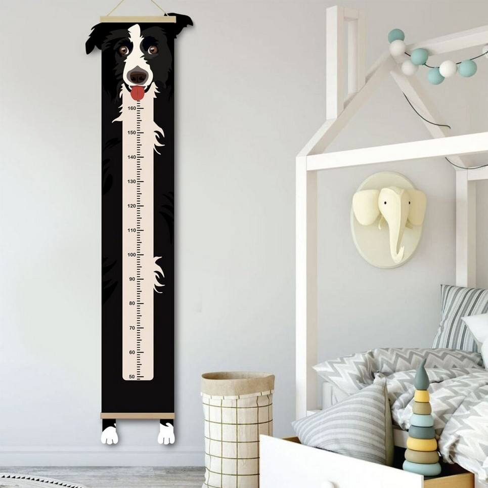 Personalised Border Collie Child Growth Chart