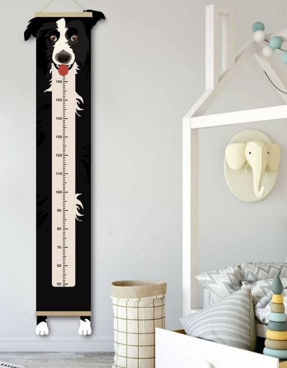How high are your little creatures? Chart your child's growth development with the Personalised Border Collie Child Growth Chart. This personalised growth chart will look perfect in your children's bedroom, nursery or playroom.