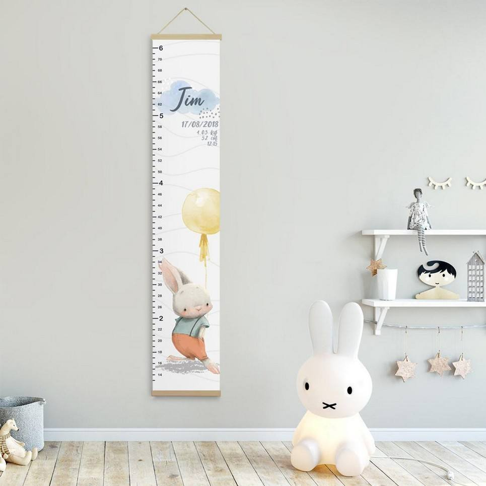 Personalised Bunny Child Growth Chart