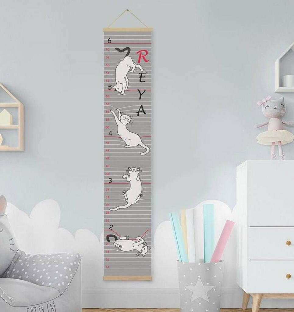 Personalised Cat Twins Growth Chart_Slide