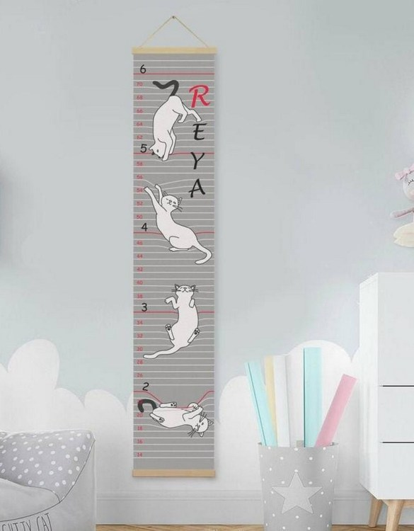 How high are your little creatures? Chart your child's growth development with the Personalised Cat Twins Growth Chart. This personalised growth chart will look perfect in your children's bedroom, nursery or playroom.