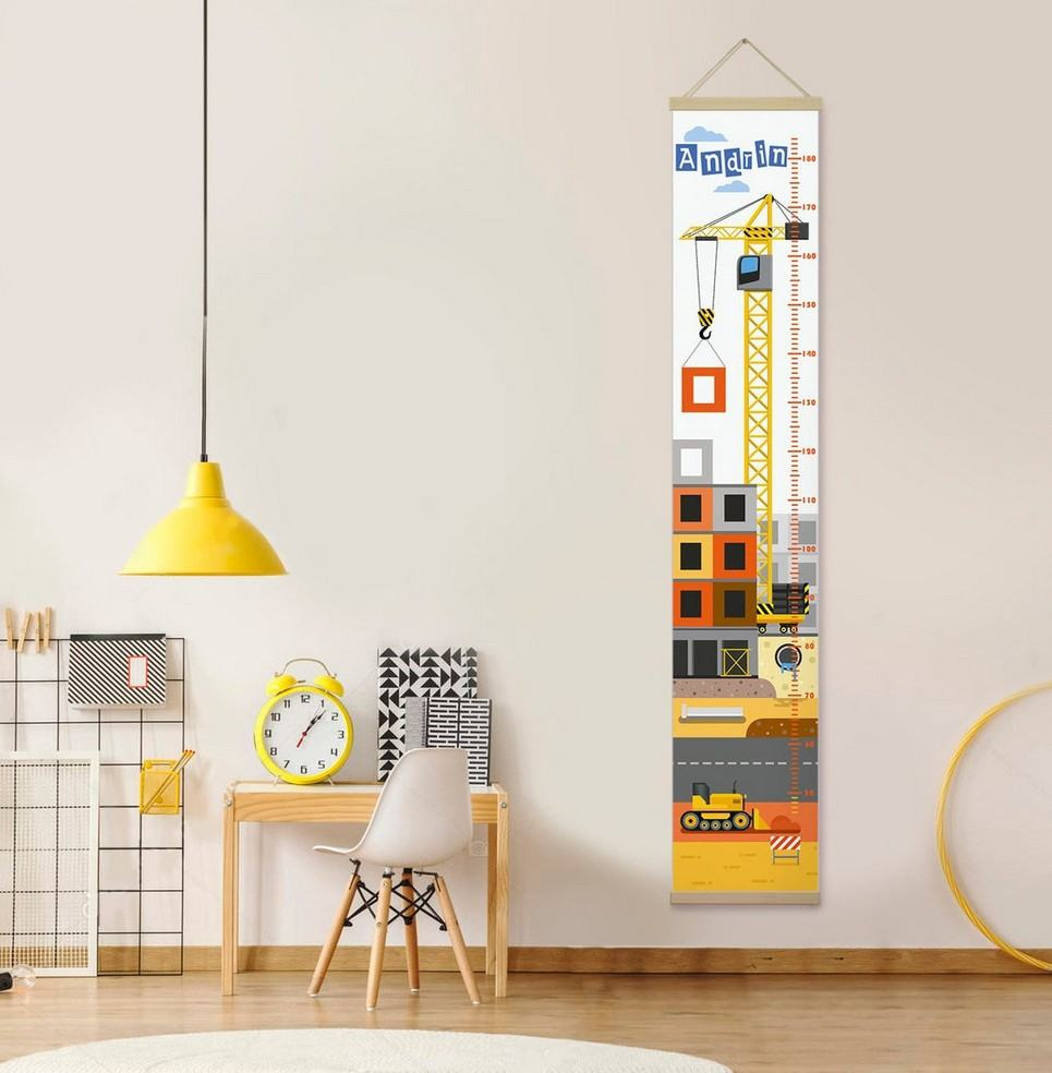 Personalised Construction Child Growth Chart