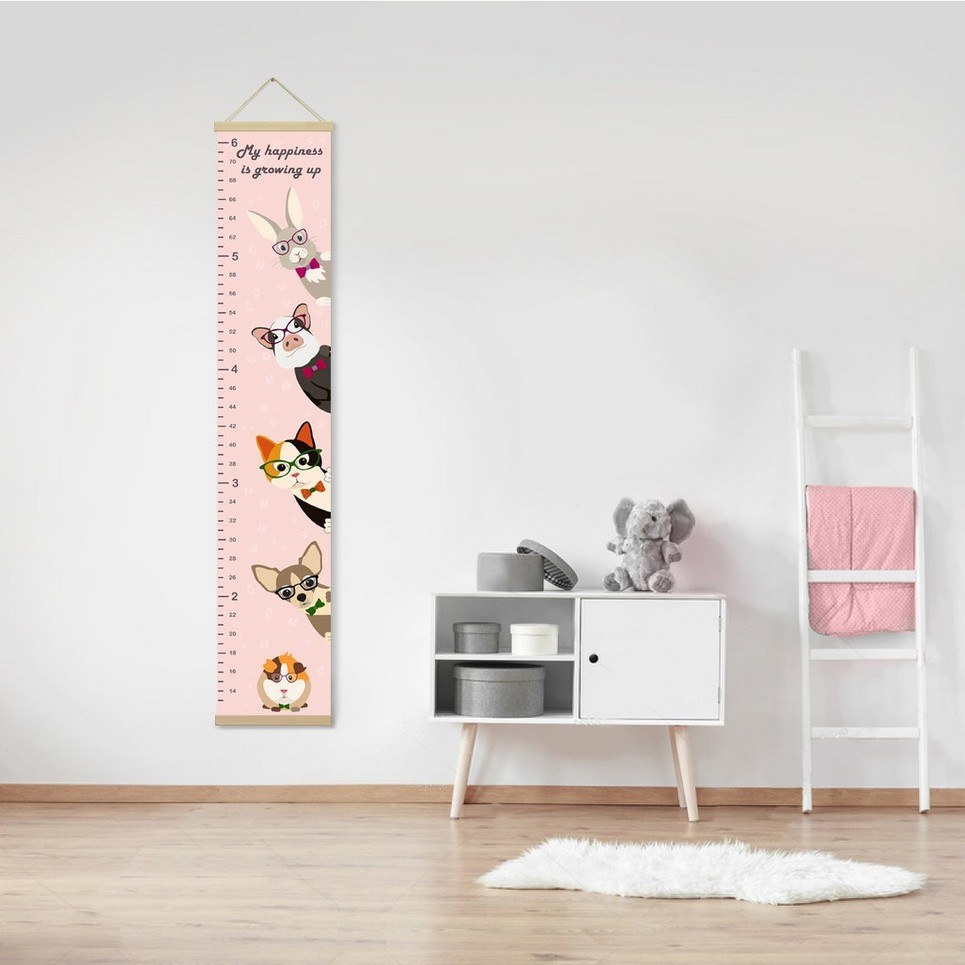 Personalised Cute Pets Child Growth Chart
