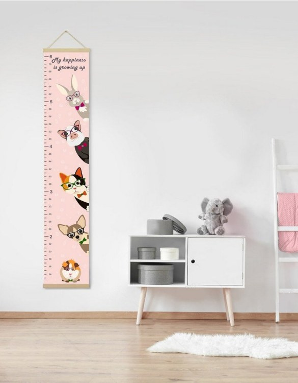 How high are your little creatures? Chart your child's growth development with the Personalised Cute Pets Child Growth Chart. This personalised growth chart will look perfect in your children's bedroom, nursery or playroom.