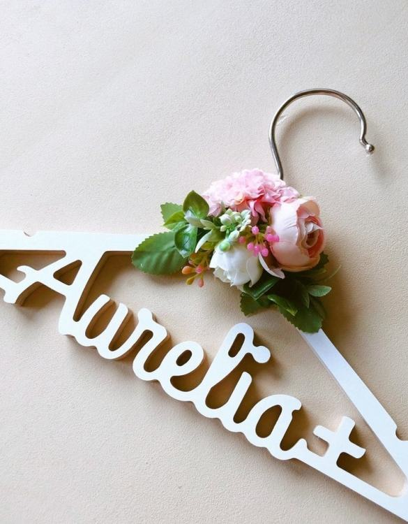 A beautiful way to display tiny clothes and make a wonderful keepsake, the Personalised Floral Baptism Dress Hanger is a lovely little extra for your baby's clothes. A wonderfully unique children's clothes hanger, it is perfect for hanging up their favourite outfit or simply as a wall decoration in their own right.