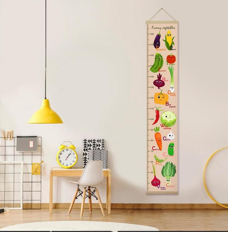 Personalised Funny Vegetables Child Growth Chart