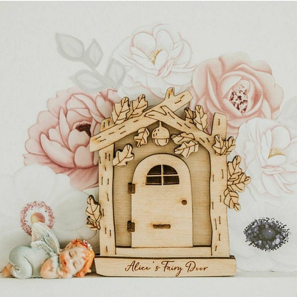 Personalised Wooden Fairy Door For Children-min