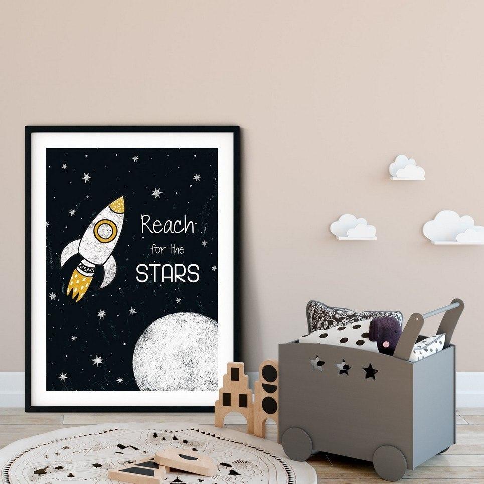 Reach For The Stars Nursery Print