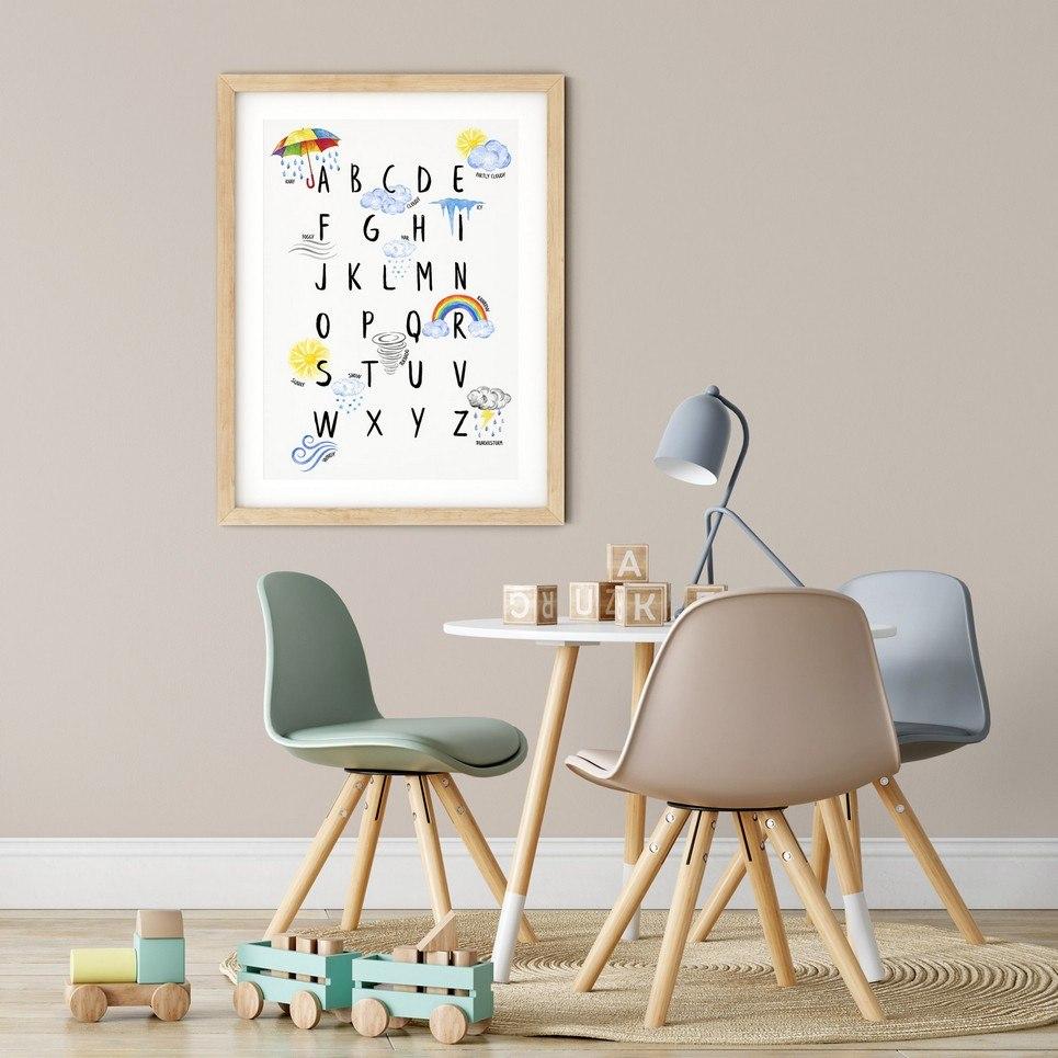 Weather Alphabet Nursery Print