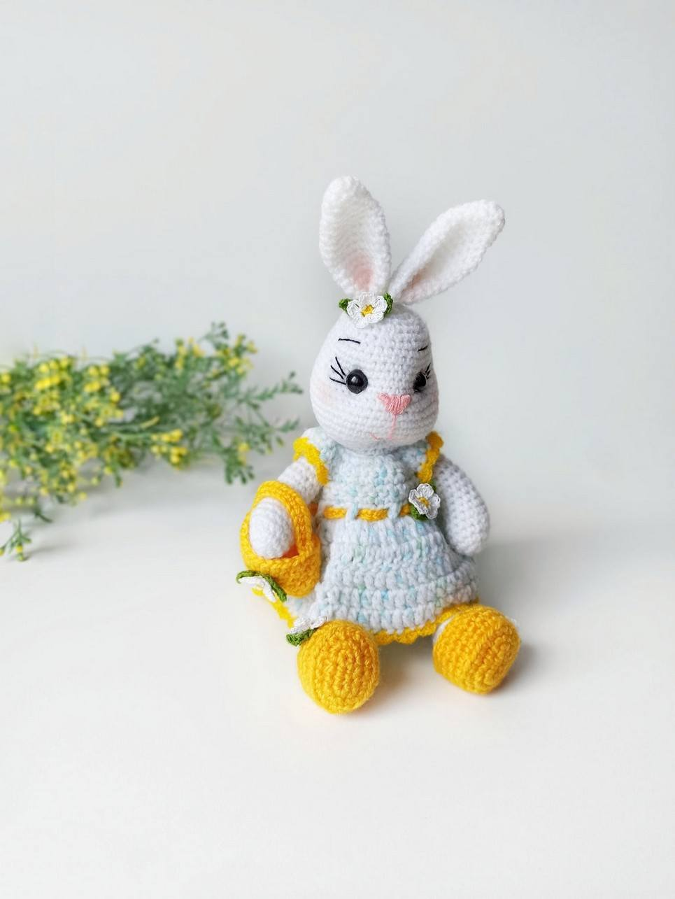 Hand Knitted Easter Bunny Doll Children's Plush Toy
