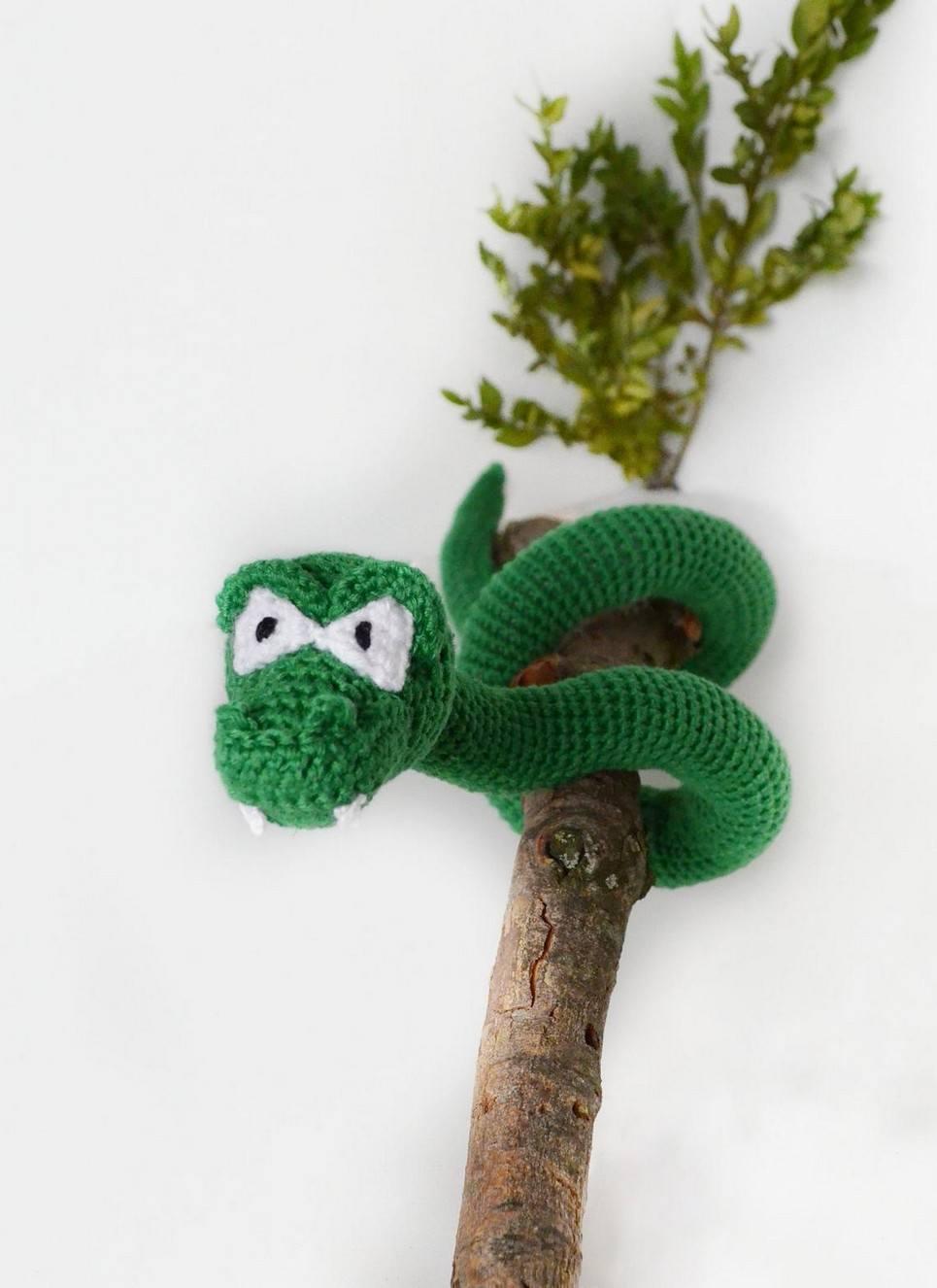 Hand Knitted Snake Children's Plush Toy