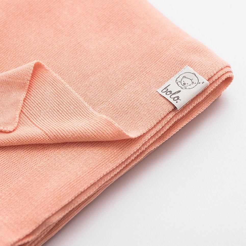 Peach Light Baby Bamboo Blanket
