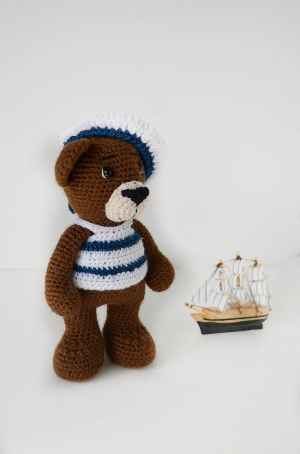Sailor Crochet Child Teddy Bear