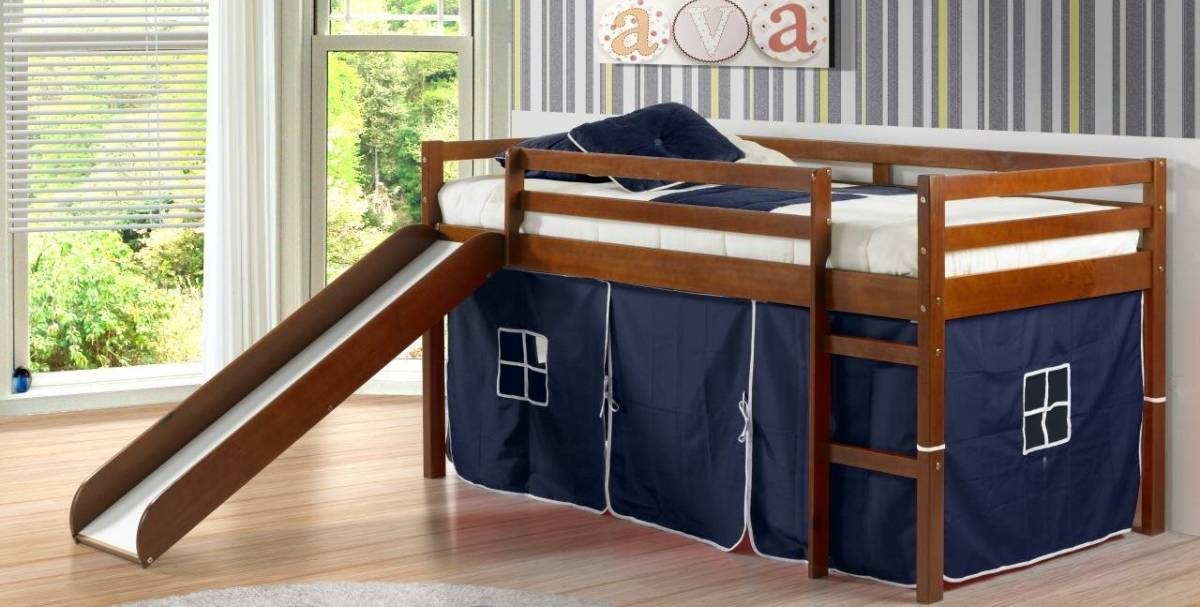 Definitely built specifically for children, a cabin bed has a wide base and is very stable. What child hasn't jumped on the bed? A cabin bed is very sturdy and hard to tip over.