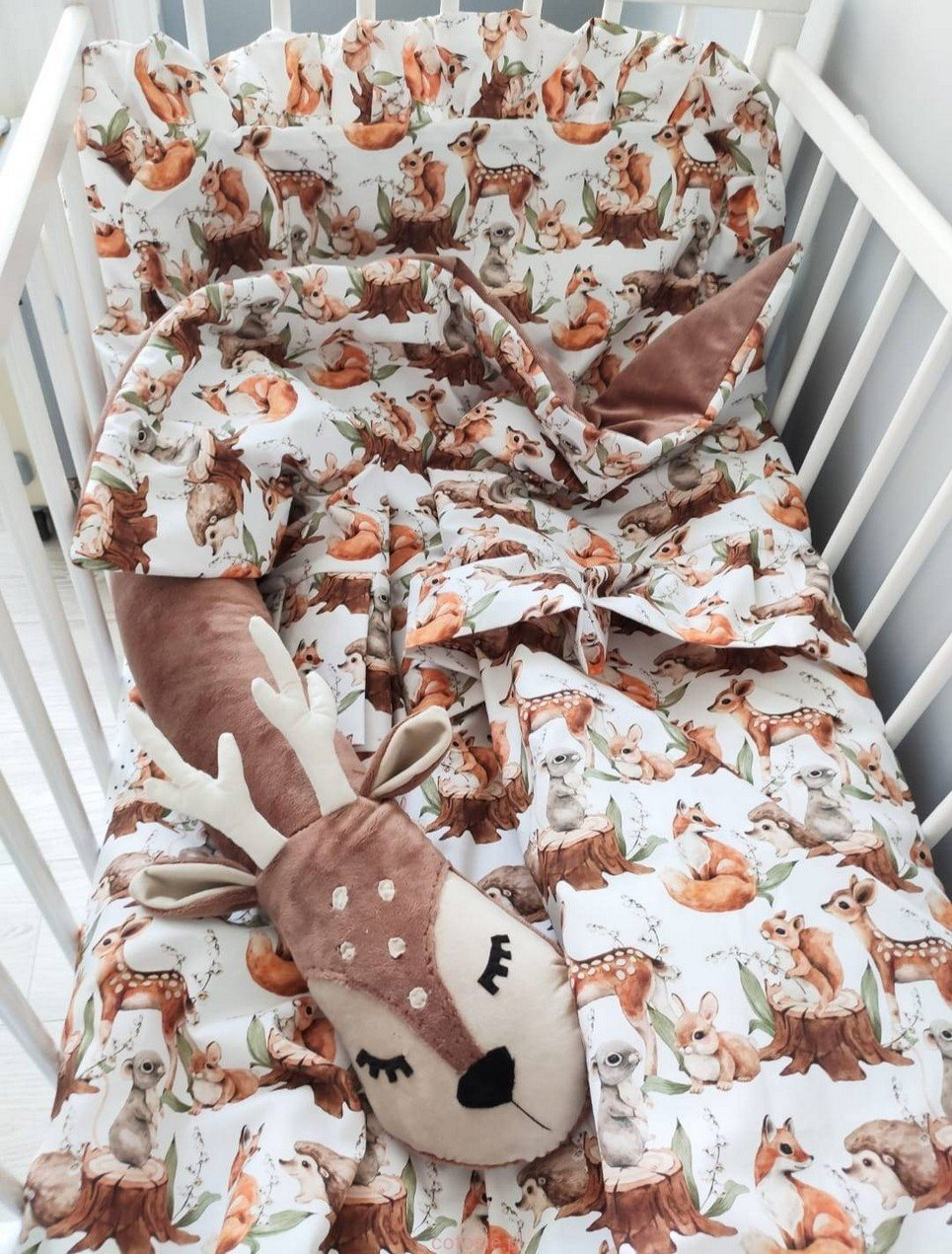 Baby Cot Bedding Set with Valance Roe-deer