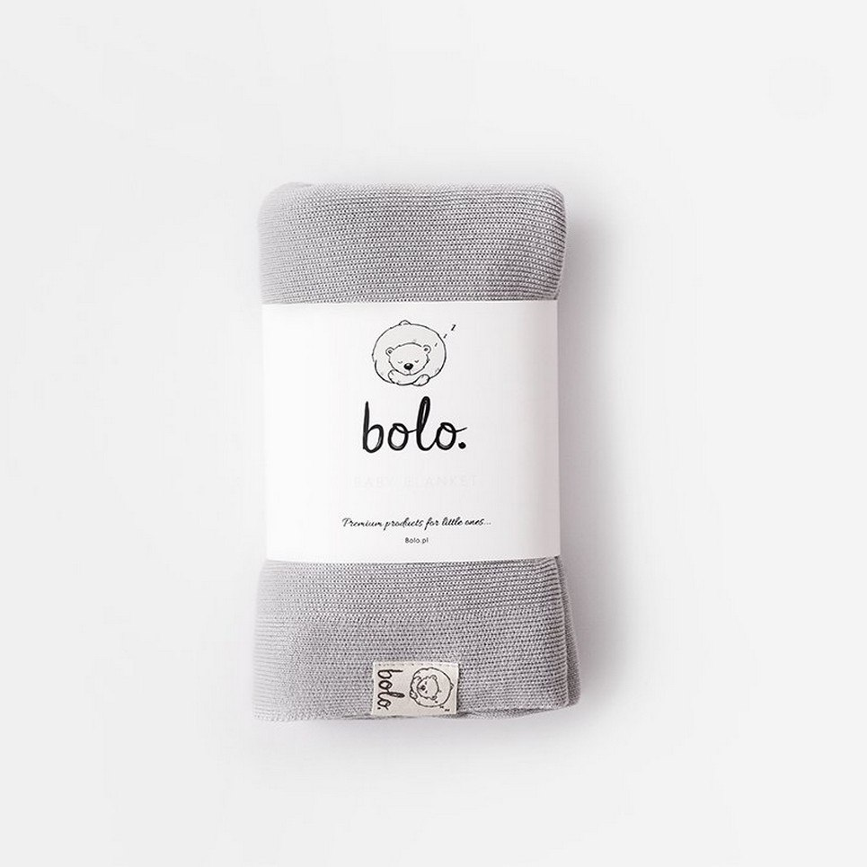 Gray Light Baby Bamboo Blanket
