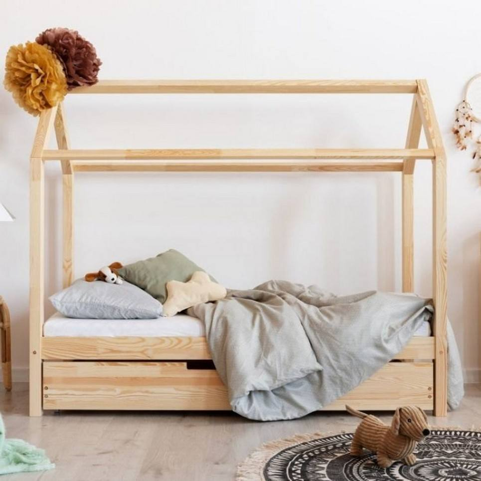 Hausbett Solid House Bed with Trundle Bed