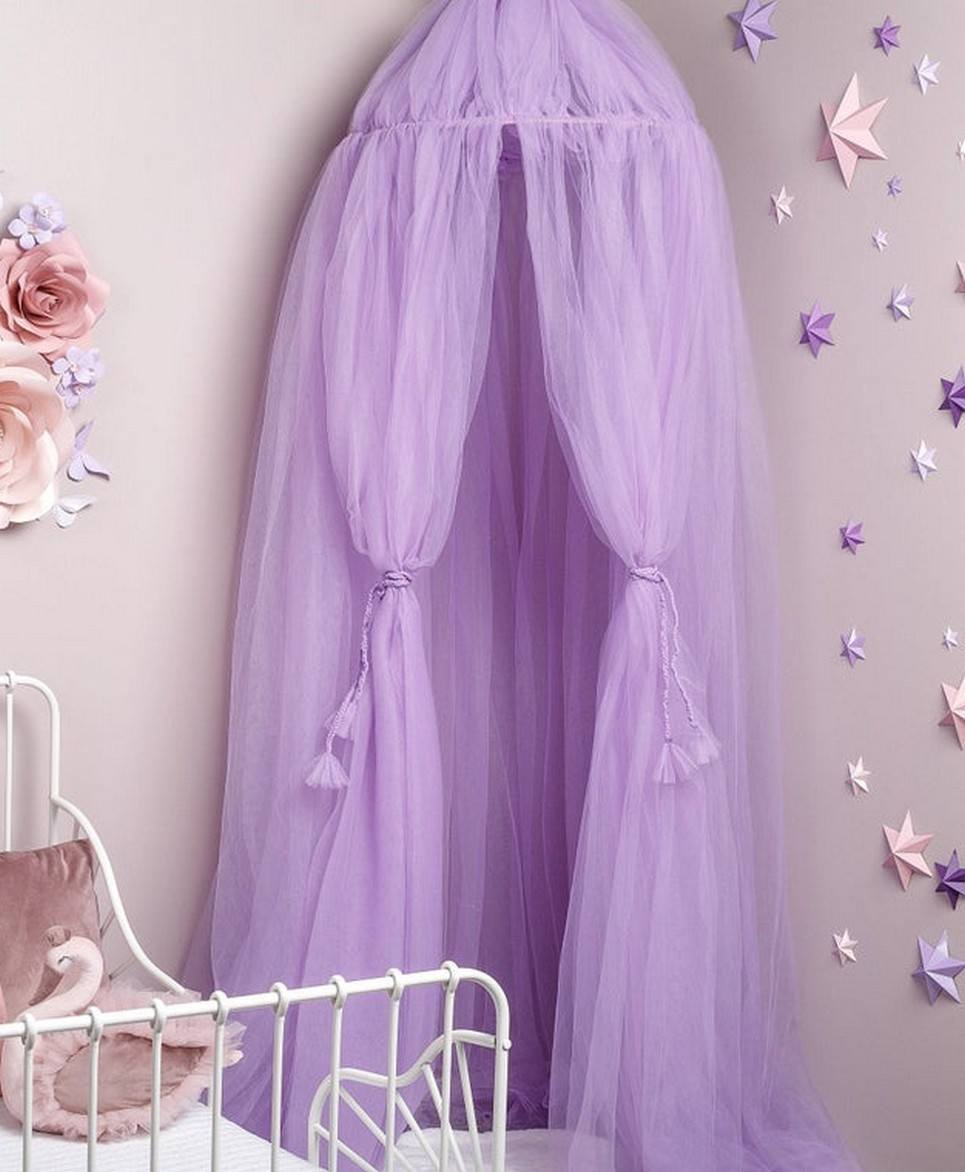 Lilac Tulle Bed Canopy