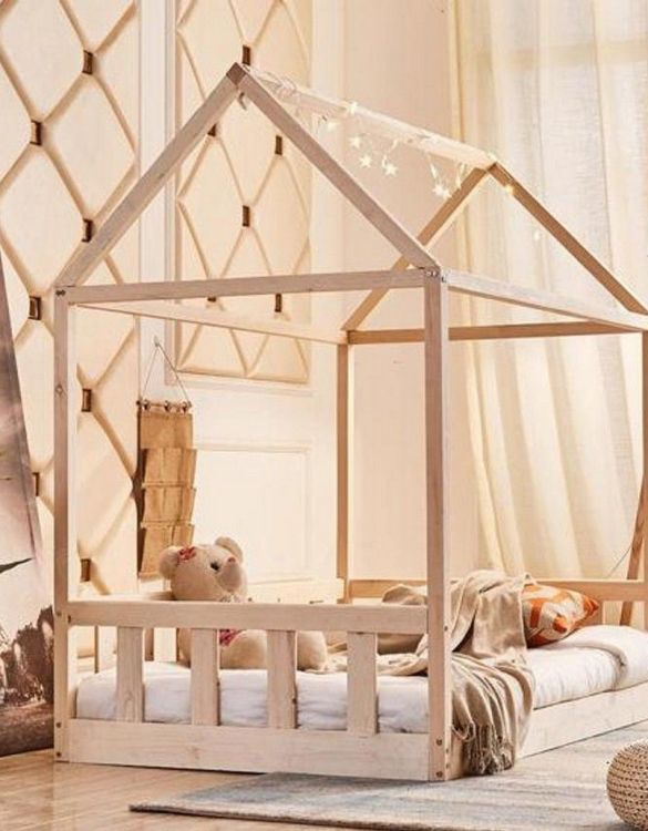 Turn bedtime into a magical adventure with the Montessori Children Bed House. An amazing Montessori bed for children where they can sleep and play.